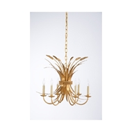 Chelsea House Lighting Wheat Chandelier - Gold 69412 Iron