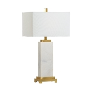 Chelsea House Lighting White Kennedy Marble Lamp 69959 Marble
