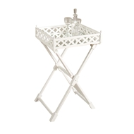 Chelsea House Home Clover Mirror Tray Table