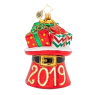 Christopher Radko Hat's Off to 2019 Dated Christmas Ornament