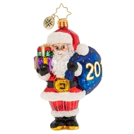 Christopher Radko Right on Time Nick 2019 Dated Christmas Ornament