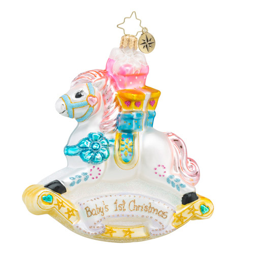 Radko 2016 Baby's First Christmas Personalized Ornament