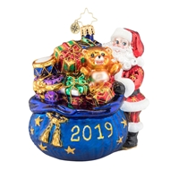 Christopher Radko Santa's Christmas Surprise 2019 Dated Ornament