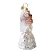 Radko Sealed with a Kiss Bridal Ornament 2014