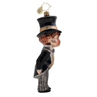 Radko Sealed with a Kiss Groom Ornament