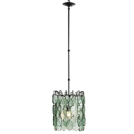 Currey Light Fixtures - 9920 Airlie Pendant - Wrought Iron/Glass Chandeliers