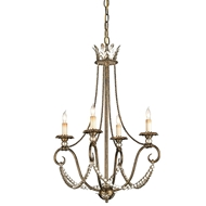 Currey Light Fixtures - 9461 Anise Chandelier - Wrought Iron/Wood Chandeliers