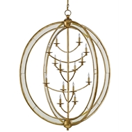 Currey Light Fixtures - 9236 Aphrodite Chandelierr, Large - Wrought Iron/Mirror Chandeliers