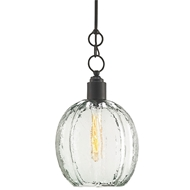 Currey Light Fixtures - 9514 Aquaterra Pendant - Metal/Glass Chandeliers