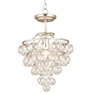 Currey Light Fixtures - 9205 Astral Pendant - Iron/Glass Chandeliers
