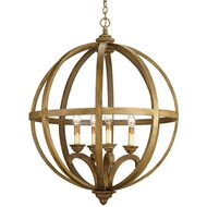 Currey & Company Lighting Axel Orb Chandelier in Large