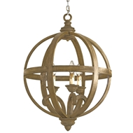 Currey & Company Lighting Axel Orb Chandelier Small