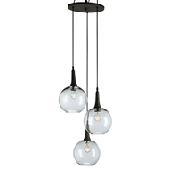 Currey Shade-Beckett Trio Pendant