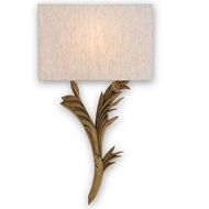 Currey Light Fixtures - 5097 Bel Esprit Wall Sconce, Right - Wrought Iron/Wood Wall Sconce