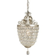 Currey Light Fixtures - 9004 Bettina Pendant - Wrought Iron/Crystal Pendant
