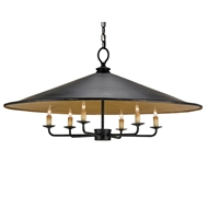Currey Light Fixtures - 9873 Brussels Pendant - Wrought Iron Chandeliers