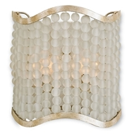 Currey Light Fixtures - 5206 Chanson Wall Sconce - Wrought Iron/Glass Wall Sconce