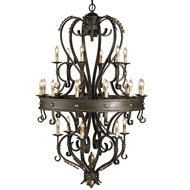 Currey Light Fixtures - 9631 Colossus Chandelier - Wrought Iron Chandeliers