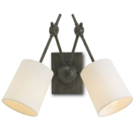 Currey Light Fixtures - 5150 Compass Wall Sconce - Wrought Iron Wall Sconce