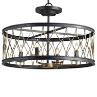 Currey & Company Lighting Crisscross Ceiling Mount