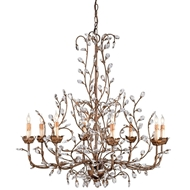 Currey & Company Lighting Crystal Bud Chandelier Large