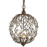 Currey & Company Lighting Crystal Bud Sphere Chandelier