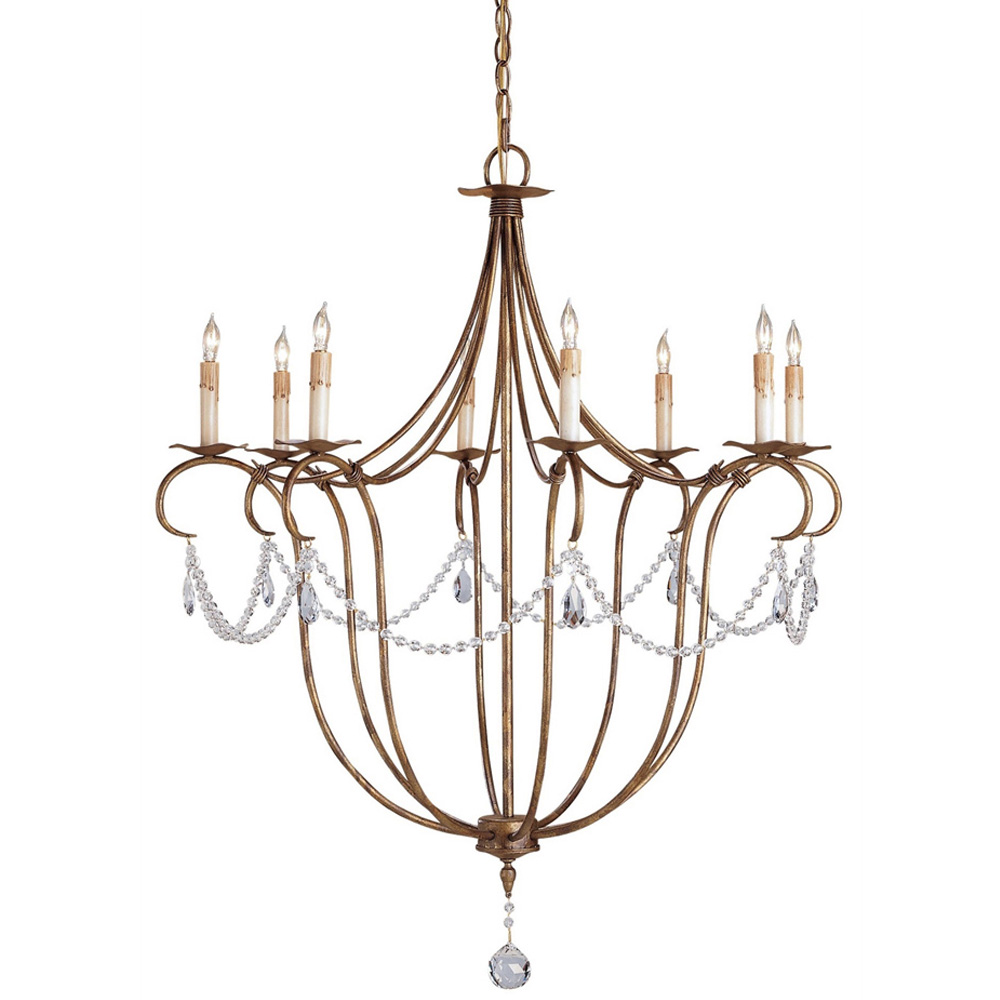 Currey Light Fixtures 9881 Crystal Chandelier Wrought Iron Chandeliers