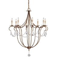 Currey Light Fixtures - 9881 Crystal Light Chandelier - Wrought Iron/Crystal Chandeliers