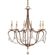 Currey & Company Lighting Crystal Light Chandelier in Small