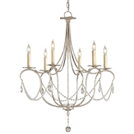 Currey & Company Lighting Crystal Lights Chandelier in Small