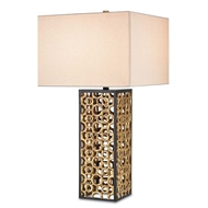 Currey Light Fixtures - 6703 Cusco Table Lamp - Metal Table Lamps