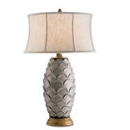 Currey Light Fixtures - 6261 Demitasse Table Lamp - Terracotta/Wood Table Lamps