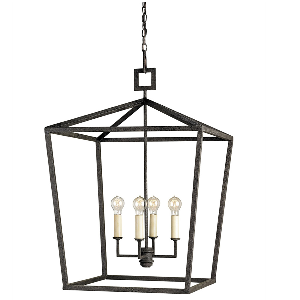 Lovely Currey Light Fixtures   9872 Denison Lantern, Small   Wrought Iron  Chandeliers ...