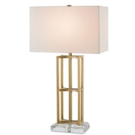 Currey Light Fixtures - 6801 Devonside Table Lamp-Metal/Acrylic Table Lamps