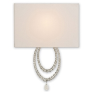 Currey Light Fixtures - 5210 Esperanza Wall Sconce - Wrought Iron/Crystal Wall Sconce