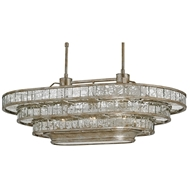 Currey Shade- Frappe Oval Chandelier