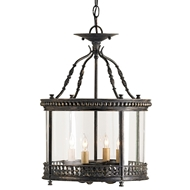 Currey Light Fixtures - 9045 Grayson Ceiling Lantern - Iron/Glass Lantern