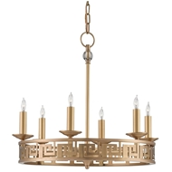 Currey Shade- Greek Key Chandelier
