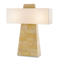 Currey Light Fixtures - 6662 Lautner Table Lamp -Quartz/Wrought Iron Table Lamps