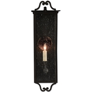 Currey & Co Giatti Outdoor Wall Sconce - Midnight Finish