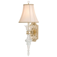 Currey Light Fixtures - 5415 Maralago Wall Sconce - Wrought Iron/Composite/Crystal Wall Sconce