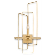 Currey Light Fixtures - 5163 Metro Wall Sconce, Right - Wrought Iron Wall Sconce