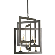 Currey Light Fixtures - 9927 Middleton Chandelier - Wrought Iron Chandeliers