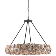 Currey Shade-Oyster Circle Chandelier