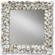Currey & Company Wall Decor Oyster Shell Mirror Currey and Company