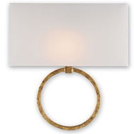 Currey Light Fixtures - 5902 Porthole Wall Sconce - Wrought Iron Wall Sconce