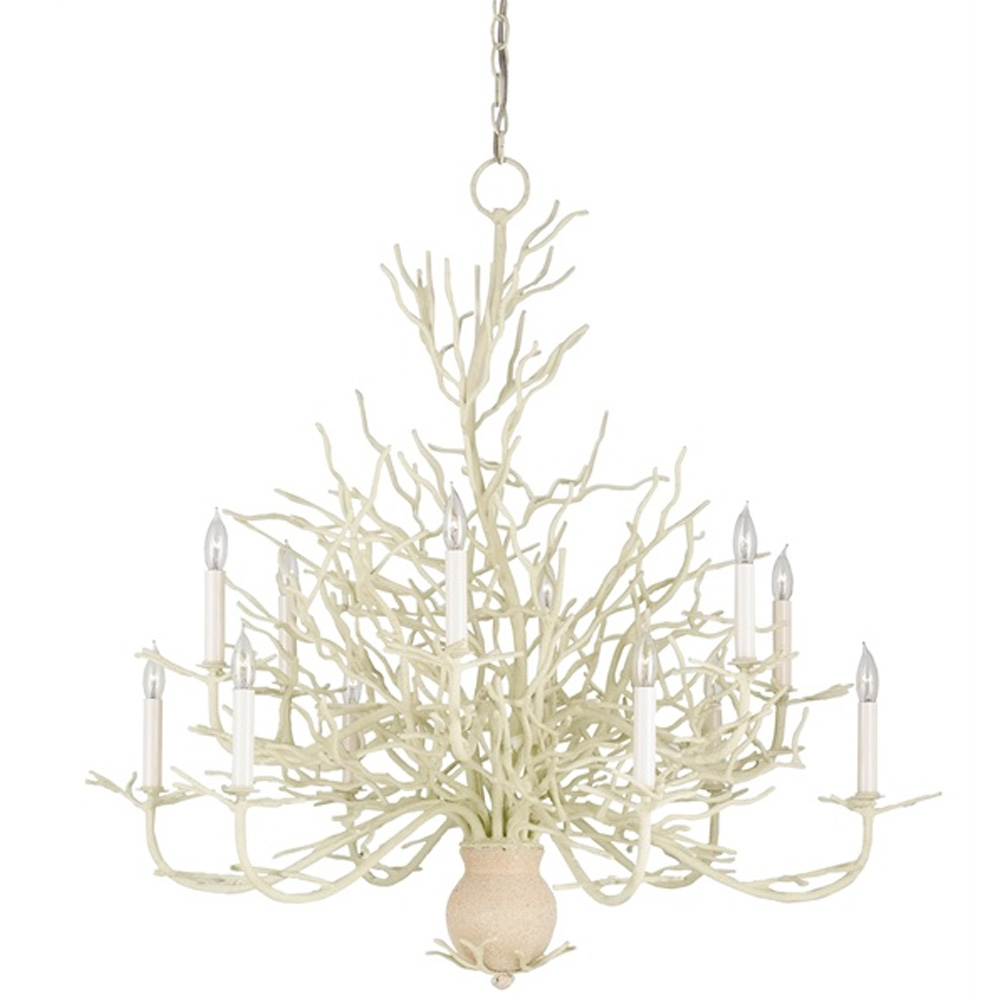 Currey Light Fixtures - 9188 Seaward Chandelier Large - White Coral/Natural Sand Chandeliers ...  sc 1 st  Peace Love u0026 Decorating & Currey Company Lighting Seaward Chandelier Large 9188 | Free Shipping