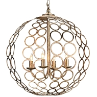 Currey & Company Lighting Tartufo Orb Chandelier Silver