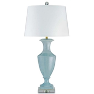 Currey Light Fixtures - 6487 Timeless Table Lamp, Blue - Ceramic/Acrylic Table Lamps