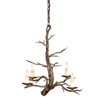 Currey Light Fixtures - 9307 Treetop Chandelier, Small - Wrought Iron Chandeliers